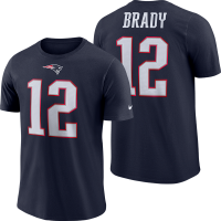 Nike New England Patriots Navy Tom Brady Player Pride Name & Number Tee