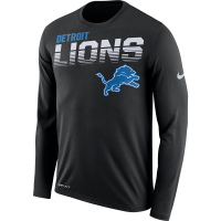 Nike Detroit Lions Black Legend Line of Scrimmage Long Sleeve Dri-FIT Tee
