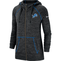 Nike Detroit Lions Women's Black Heather Vintage Dri-FIT Hoodie