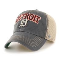 47 Brand Detroit Tigers Charcoal Tuscaloosa Clean Up Adjustable Cap