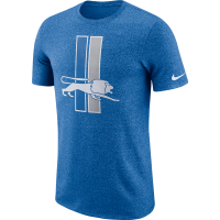 Nike Detroit Lions Battle Blue Marled Historic Tee