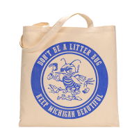 MI Culture Natural Litter Bug Canvas Tote