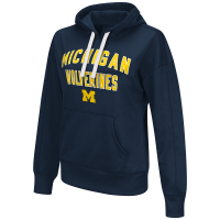 G-III Michigan Wolverines Women's Navy Championship Pullover