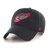 47 Brand Detroit Red Wings Black Afterglow Clean Up Adjustable Cap