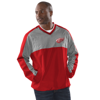 G-III Detroit Red Wings Red Clutch Hitter V-Neck Pullover Top