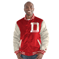 Starter Detroit Red Wings Red Satin Snap Jacket