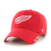 47 Brand Detroit Red Wings Women's Red Miata Clean Up Adjustable Cap