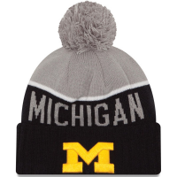 New Era Michigan Wolverines Navy Sport Knit Cap
