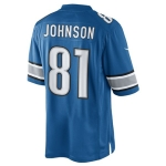 Nike Men's Detroit Lions Home Blue Calvin Johnson The Limited Jersey