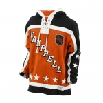 Old Time Hockey Campbell Conference Ochre 1986 All-Star Lace-Up Pullover Hooded Sweatshirt