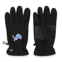 47 Brand Detroit Lions Black Fleece Gloves