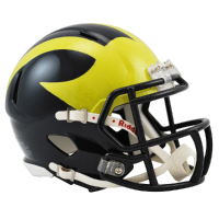 Riddell Michigan Wolverines Hand Painted Speed Mini Helmet