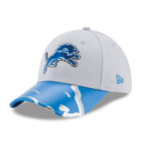 New Era Detroit Lions Women's Gray 9Forty Draft Day Onstage Adjustable Hat