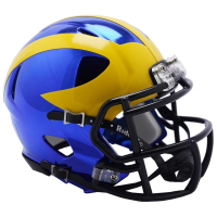 Riddell Michigan Wolverines Alternate Chrome Speed Mini Helmet