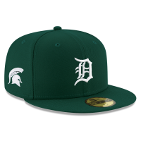 New Era Detroit Tigers Green 59Fifty Michigan State Spartans Co-Branded Fitted Cap