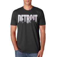 MI Culture Charcoal Detroit Skyline T-Shirt