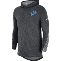 Nike Detroit Lions Charcoal Gray Scrimmage Long Sleeve Dri-FIT Hoodie T-Shirt