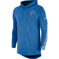 Nike Detroit Lions Battle Blue Scrimmage Long Sleeve Dri-FIT Hoodie T-Shirt