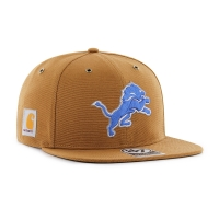 47 Brand Detroit Lions Brown Carhartt X Captain Adjustable Hat
