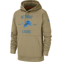 Nike Detroit Lions Parachute Beige 2019 Salute To Service Thermal Hoodie