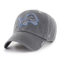 47 Brand Detroit Lions Charcoal Ice Clean Up Adjustable Cap
