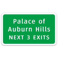 Palace of Auburn Hills Interstate Sign Vinyl Decal
