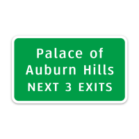Palace of Auburn Hills Interstate Sign Magnet