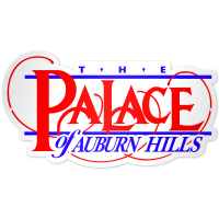 "Authentic Street Signs Palace of Auburn Hills 12"" Steel Logo"