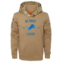 Nike Detroit Lions Youth Parachute Beige 2019 Salute To Service Thermal Hoodie