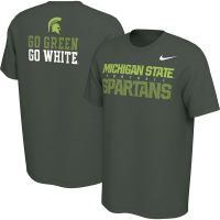 Nike Michigan State Spartans Green Student Body T-Shirt
