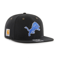 47 Brand Detroit Lions Black Carhartt X Captain Adjustable Hat
