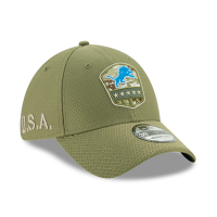 New Era Detroit Lions Olive 39Thirty 2019 Salute To Service Flex Hat