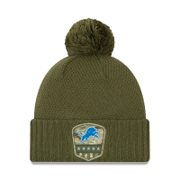 New Era Detroit Lions Women's Olive 2019 Salute To Service Cuff Knit Hat