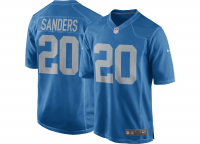 Nike Detroit Lions Blue Barry Sanders Alternate Limited Jersey