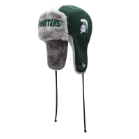 New Era Michigan State Spartans Gray A3 Knit Trapper Hat