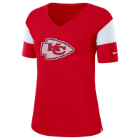 Nike Kansas City Chiefs Women's Red Dri-FIT Breathe V-Neck T-Shirt