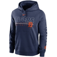 Nike Detroit Tigers Women's Navy Outline Club Pullover Hoodie