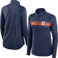 Nike Detroit Tigers Women's Navy Seam-to-Seam Element Half Zip Pullover Jacket