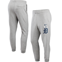 Nike Detroit Tigers Dark Gray Heather Color Bar Club Fleece Joggers