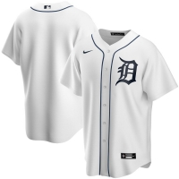 Nike Detroit Tigers Home White Replica Jersey