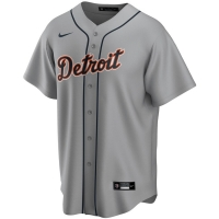 Nike Detroit Tigers Road Gray Replica Jersey