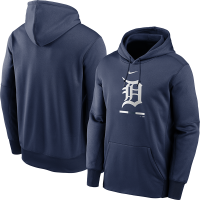 Nike Detroit Tigers Navy Legacy Therma Performance Pullover Hoodie