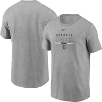 Nike Detroit Tigers Dark Heather Gray Color Bar Practice Short Sleeve T-Shirt