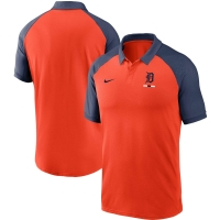 Nike Detroit Tigers Orange Legacy Raglan Short Sleeve Polo