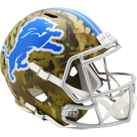 Riddell Detroit Lions Camo Alternate Speed Full Size Replica Helmet