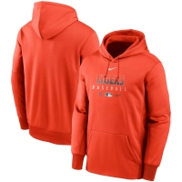 ,Nike Detroit Tigers Orange Authentic Collection Therma Performance Pullover Hoodie