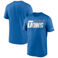 Nike Detroit Lions Blue Sideline Impact Legend Short Sleeve T-Shirt