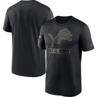 Nike Detroit Lions Black 2020 Salute To Service Short Sleeve T-Shirt