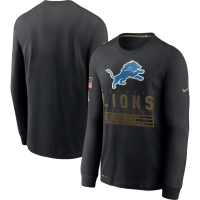 Nike Detroit Lions Black 2020 Salute To Service Long Sleeve T-Shirt