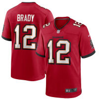 Nike Tampa Bay Buccaneers Red Tom Brady Game Jersey